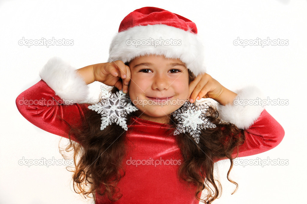 Little girl in red — Stock Photo #1141237