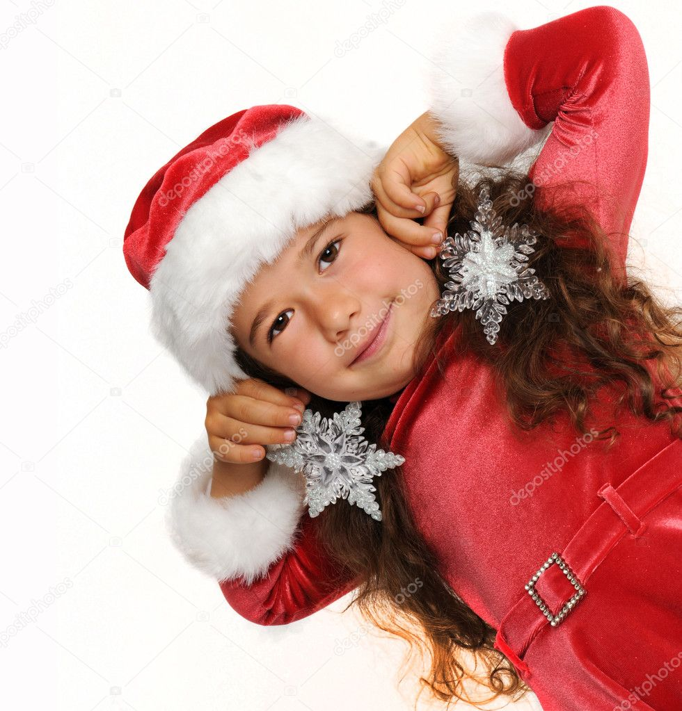 Little girl in red — Stock Photo #1141263