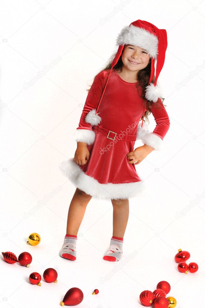 Little girl in red — Stock Photo #1142310