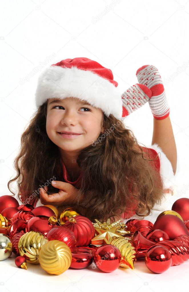 Little girl in red — Stock Photo #1167222
