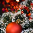 Christmas ball and decorations — Stock Photo