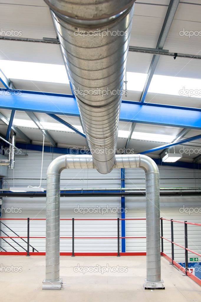 Industrial Air Pipes : Industrial air conditioner pipes — stock photo rihardzz