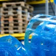 Plastic roll in warehouse — Stockfoto