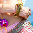 Part of a woman in asian dress — Stock Photo #1237275