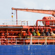 Fuel ship tanker detail — Stock Photo