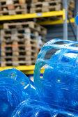 Plastic roll in warehouse — Foto Stock