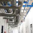 Stock Photo: Industrial air-conditioner pipes sistem