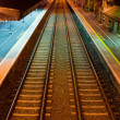 Railway at Athenry train station - Stock Photo
