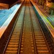 Railway at Athenry train station — Stock Photo