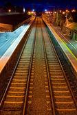 železnice na nádraží v městě athenry — Stock fotografie