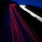 Car lights trails — Stock Photo #1290110