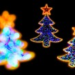 Christmass tree shape lights decorations — Stock Photo