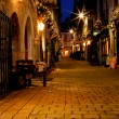 Old street decorated with lights — Stock Photo #1388854