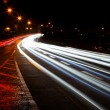 Car lights trails — Stock fotografie