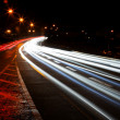 Car lights trails — Stockfoto