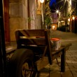 Old city street with lights at night — Stock Photo #1438147