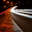 Stock Photo: Car lights trails