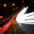 Car lights trails — Stock Photo #1438258