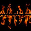 Fire flame abstract, isolated — Stock Photo #1619539