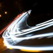 Car lights trails - Stock Photo