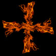 Cros fire flame,isolated — Stock Photo #1799233