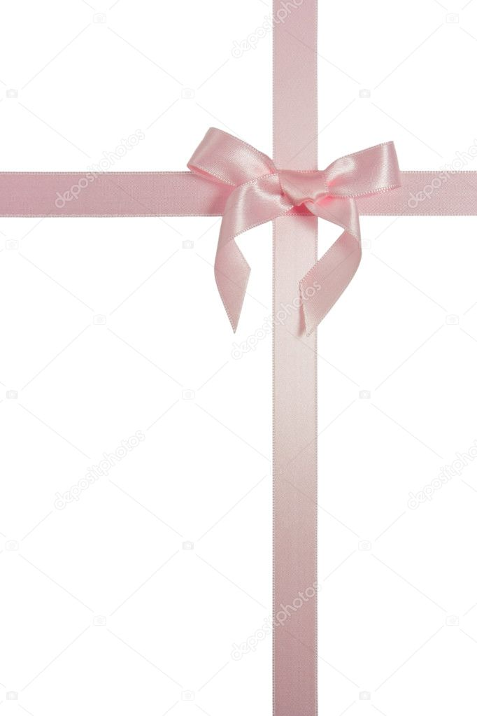 Pink Cross Background Pink cross ribbon with bow