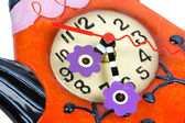 Teapot sahpe ceramic wall clock — Stock Photo