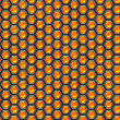 Orange cells. Metal background. — Foto de Stock