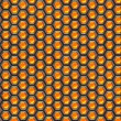 Orange cells. Metal background. — Stock fotografie