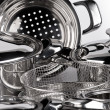 Stainless steel cooking pots — ストック写真 #1182268