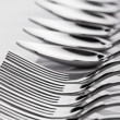 Spoons and forks - Foto Stock