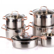 Royalty-Free Stock Photo: Stainless steel cooking pots