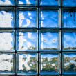 Tiled glass wall — Stock Photo