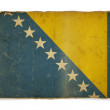 Stock Photo: Grunge flag of Bosniand Herzegovina