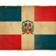 Grunge flag of Dominican republic — Foto de Stock