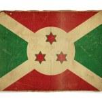 Grunge flag of Burundi — Stock Photo