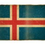 Grunge İzlanda bayrağı — Stok fotoğraf