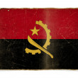 Grunge flag of Angola — Stock Photo