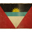 drapeau de grunge d'antigua et barbuda — Photo