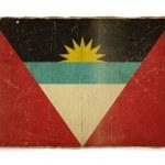 Гранж Флаг Антигуа и Барбуда — Стоковое фото