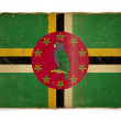 Grunge flag of Dominica - Stock Photo