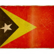 Stock Photo: Grunge flag of East Timor