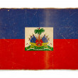 Grunge flag of Haiti — Stock Photo