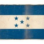 Grunge flag of Honduras — Stock Photo