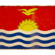 Stock Photo: Grunge flag of Kiribati
