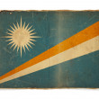 Grunge flag of Marshall Islands — Stock Photo