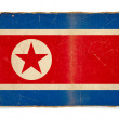 Bandeira do grunge da Coreia do Norte — Foto Stock