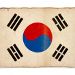 Grunge flag of South Korea — Stock Photo