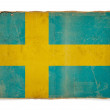 Grunge flag of Sweden — Stock Photo