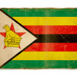 Stock Photo: Grunge flag of Zimbabwe